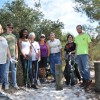 Students and MOFAC volunteers clean up the trail.